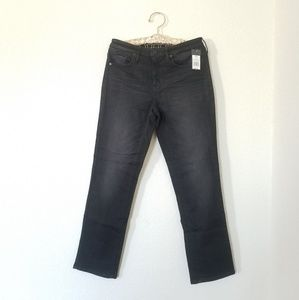 Mossimo Denim High Rise Straight Black Jeans